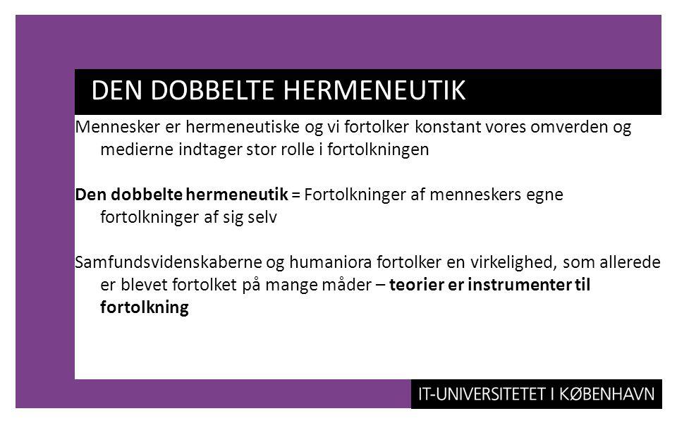 DEN DOBBELTE HERMENEUTIK