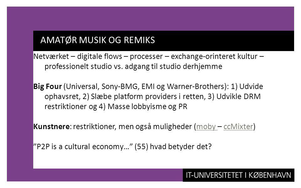 AMATØR MUSIK OG REMIKS