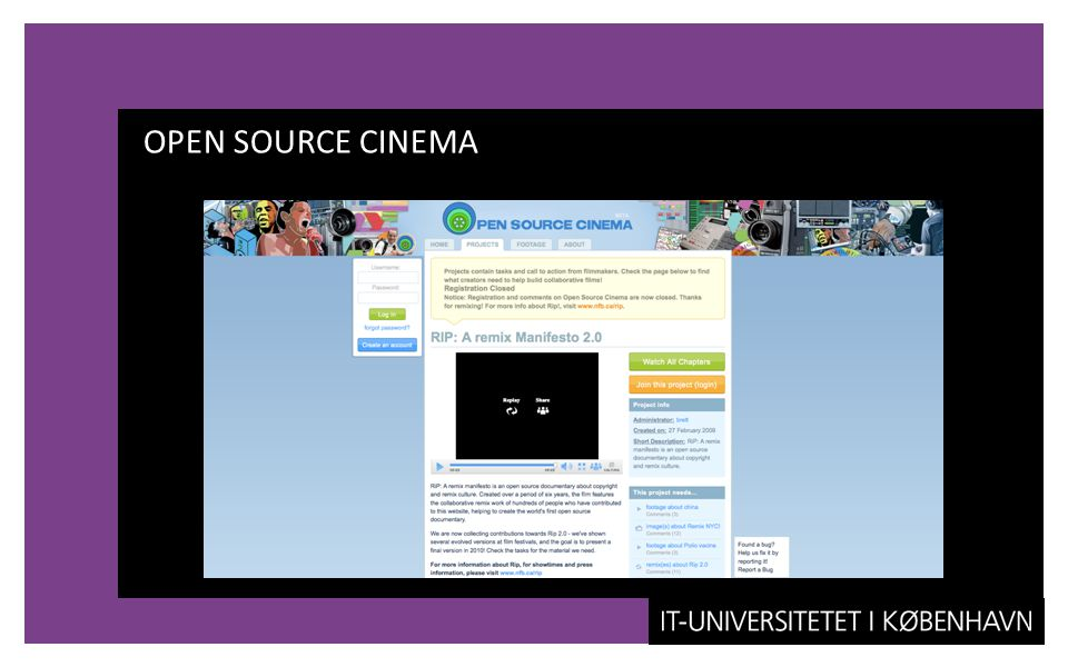 OPEN SOURCE CINEMA