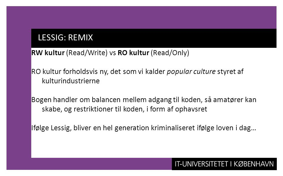 LESSIG: REMIX