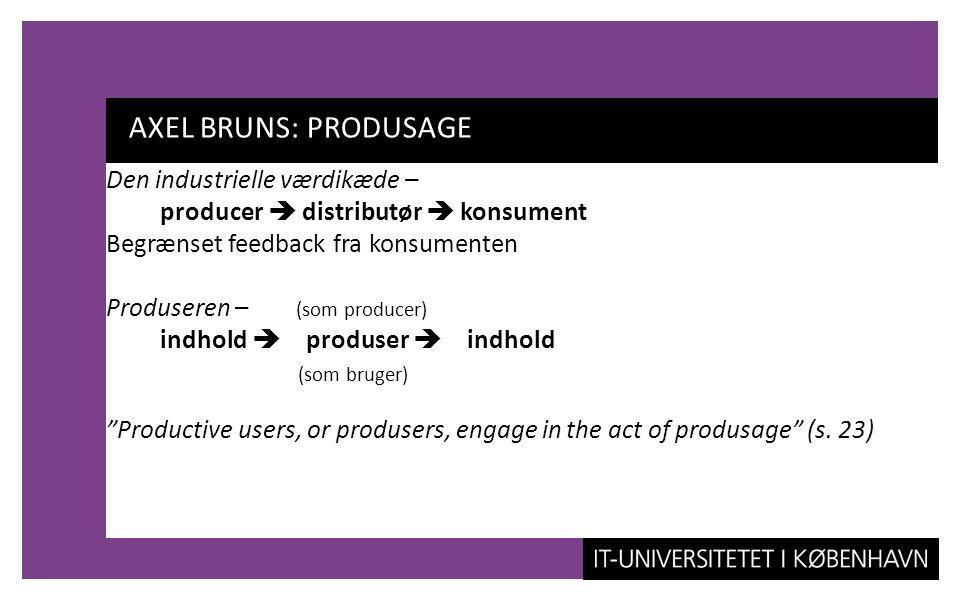 AXEL BRUNS: PRODUSAGE