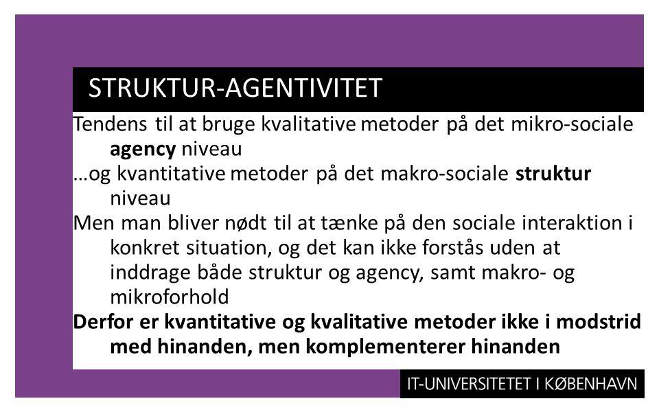 STRUKTUR-AGENTIVITET