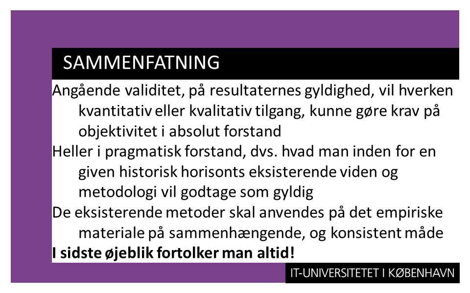 SAMMENFATNING