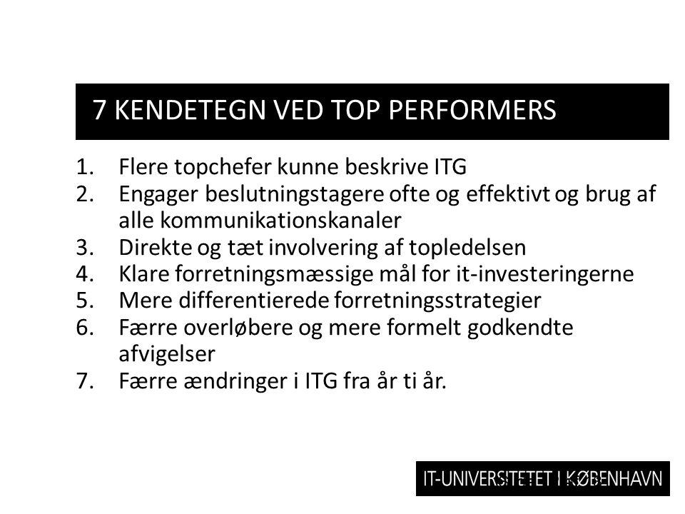 7 Kendetegn ved top performers