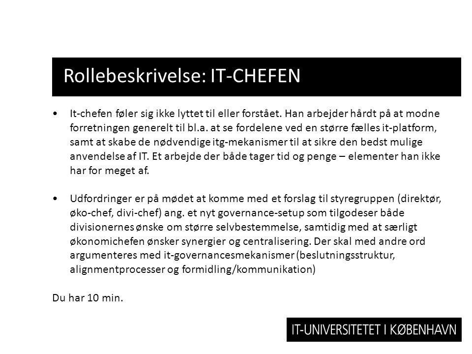 Rollebeskrivelse: IT-CHEFEN