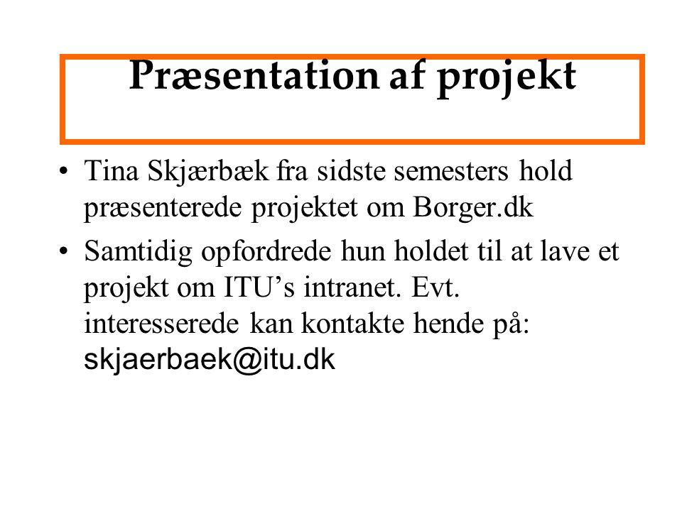 Præsentation af projekt
