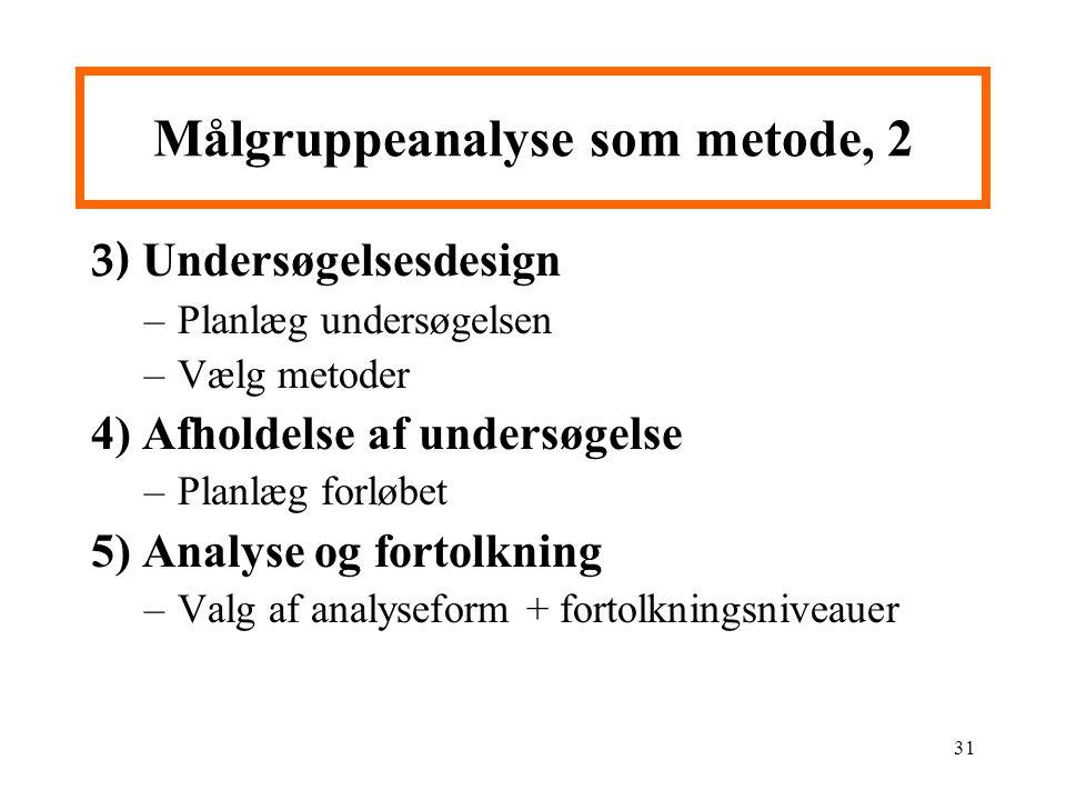 Målgruppeanalyse som metode, 2