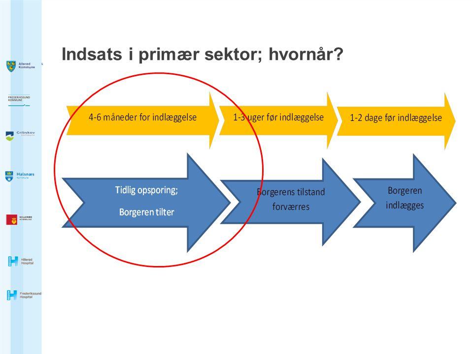 Indsats i primær sektor; hvornår