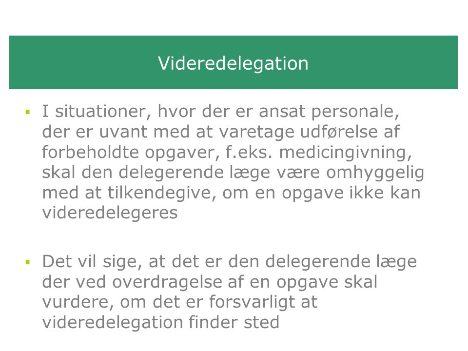 Videredelegation