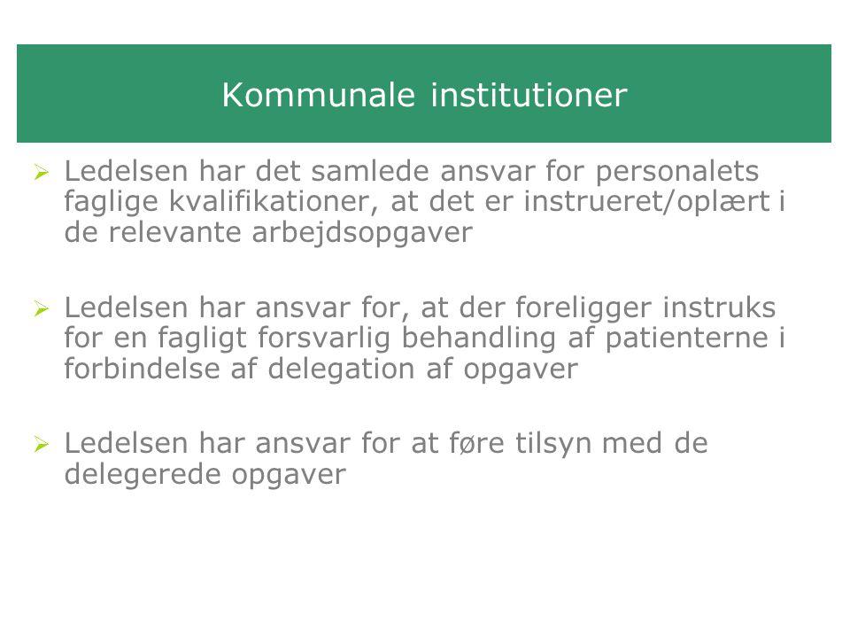 Kommunale institutioner