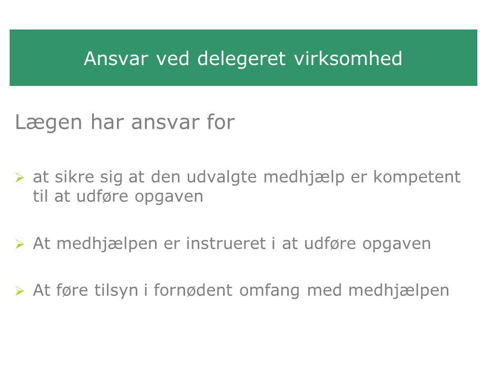 Ansvar ved delegeret virksomhed