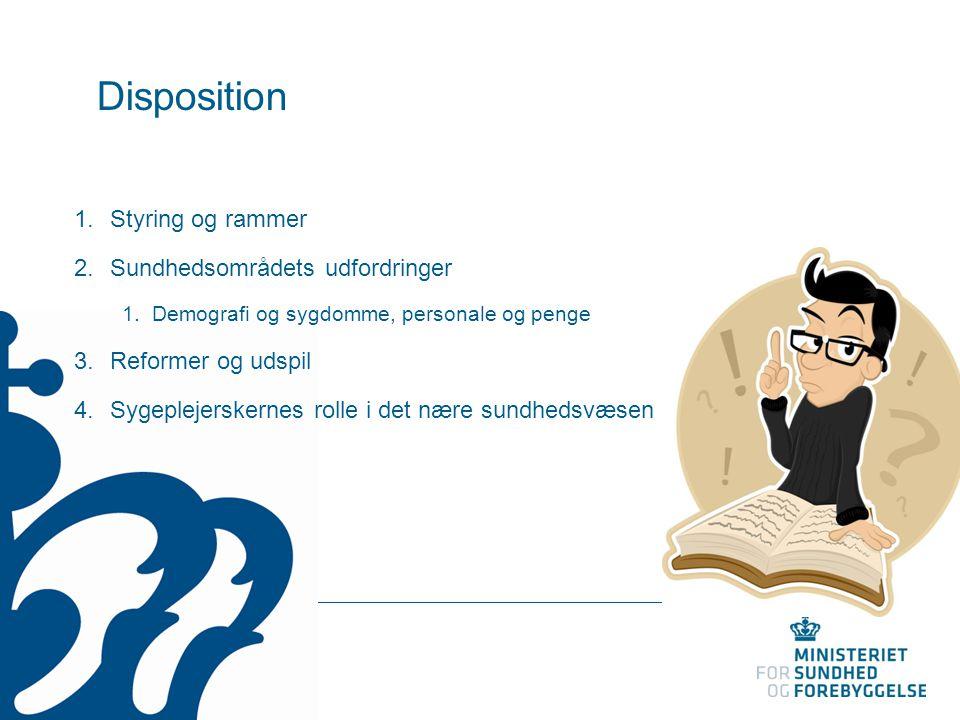 Disposition Styring og rammer Sundhedsområdets udfordringer
