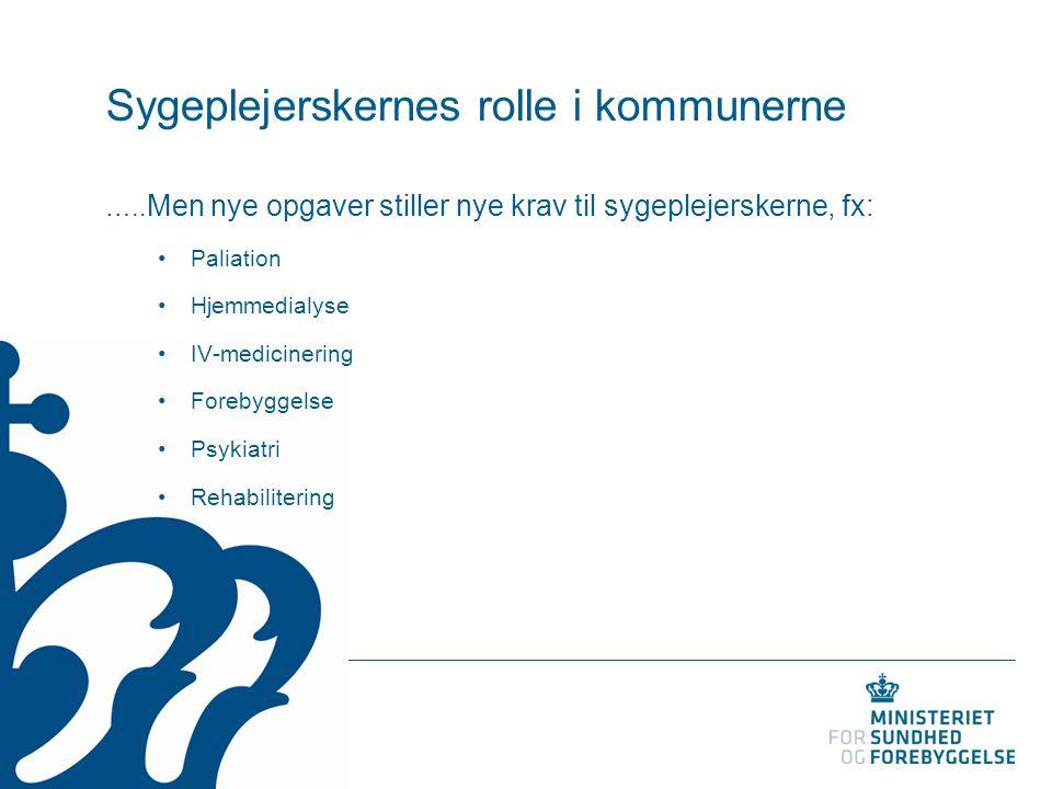 Sygeplejerskernes rolle i kommunerne