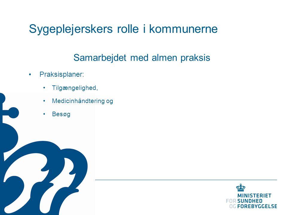 Sygeplejerskers rolle i kommunerne