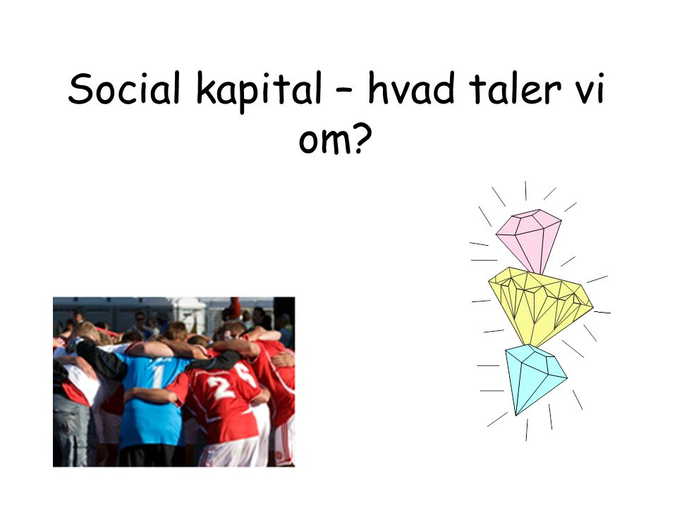 Social kapital – hvad taler vi om