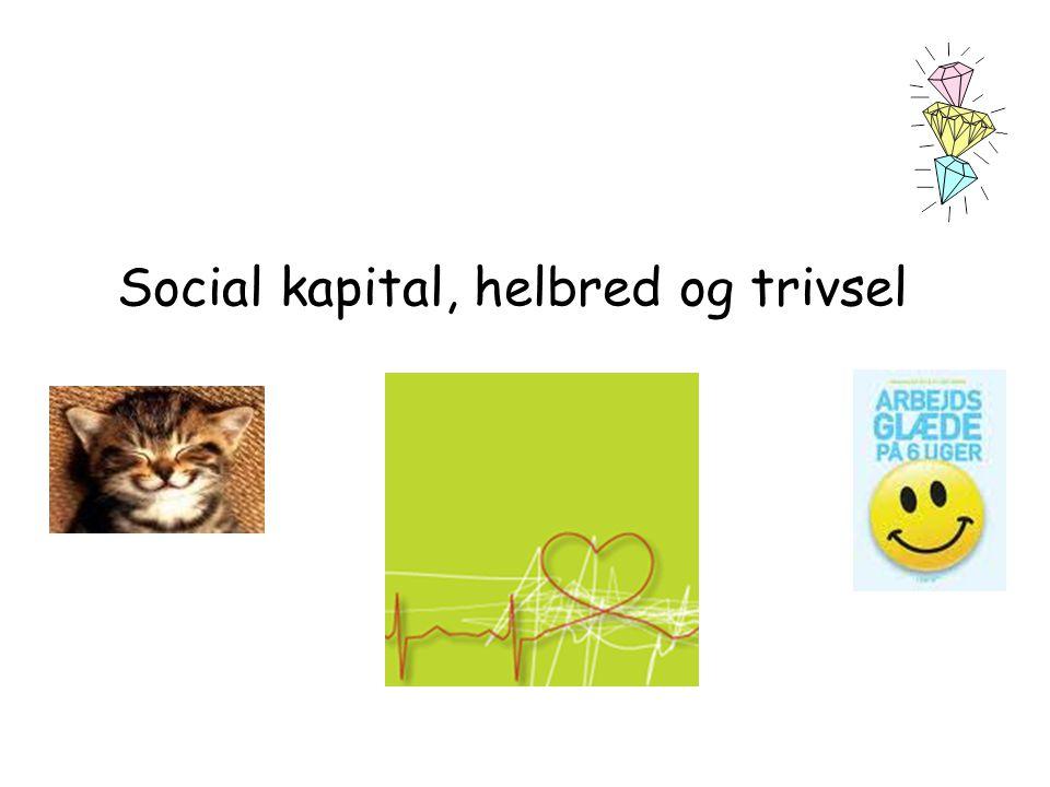 Social kapital, helbred og trivsel