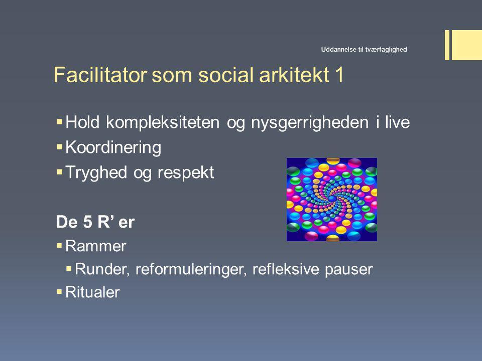 Facilitator som social arkitekt 1