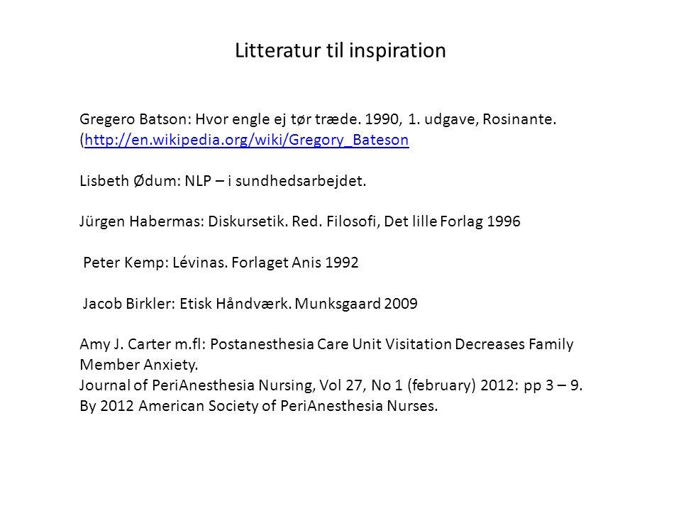 Litteratur til inspiration