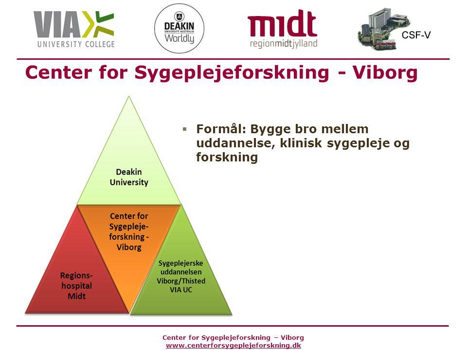 Center for Sygeplejeforskning - Viborg