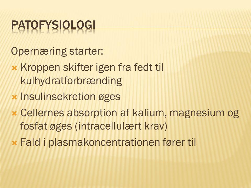 Patofysiologi Opernæring starter:
