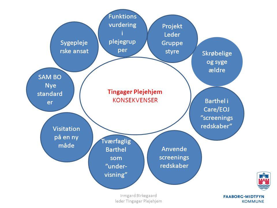 Funktionsvurdering i plejegrupper Projekt Leder Gruppe styre