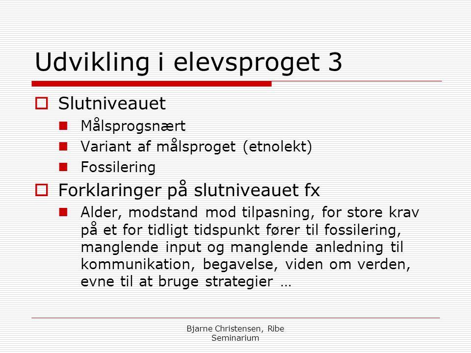 Udvikling i elevsproget 3