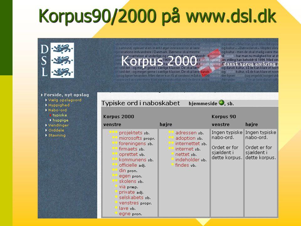 Korpus90/2000 på www.dsl.dk