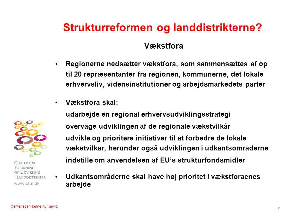 Strukturreformen og landdistrikterne