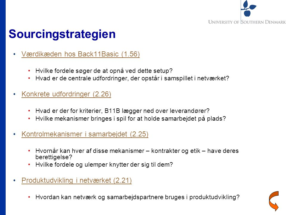 Sourcingstrategien Værdikæden hos Back11Basic (1.56)
