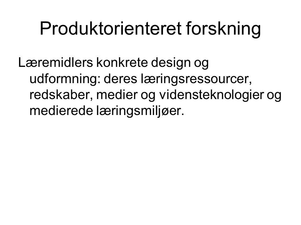 Produktorienteret forskning