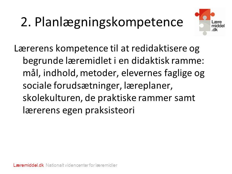 2. Planlægningskompetence