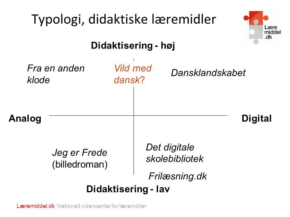 Typologi, didaktiske læremidler
