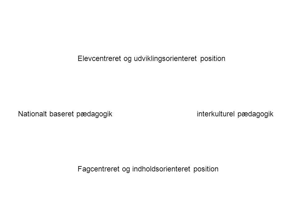 Elevcentreret og udviklingsorienteret position