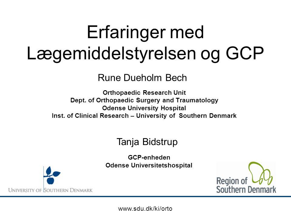 Erfaringer med Lægemiddelstyrelsen og GCP