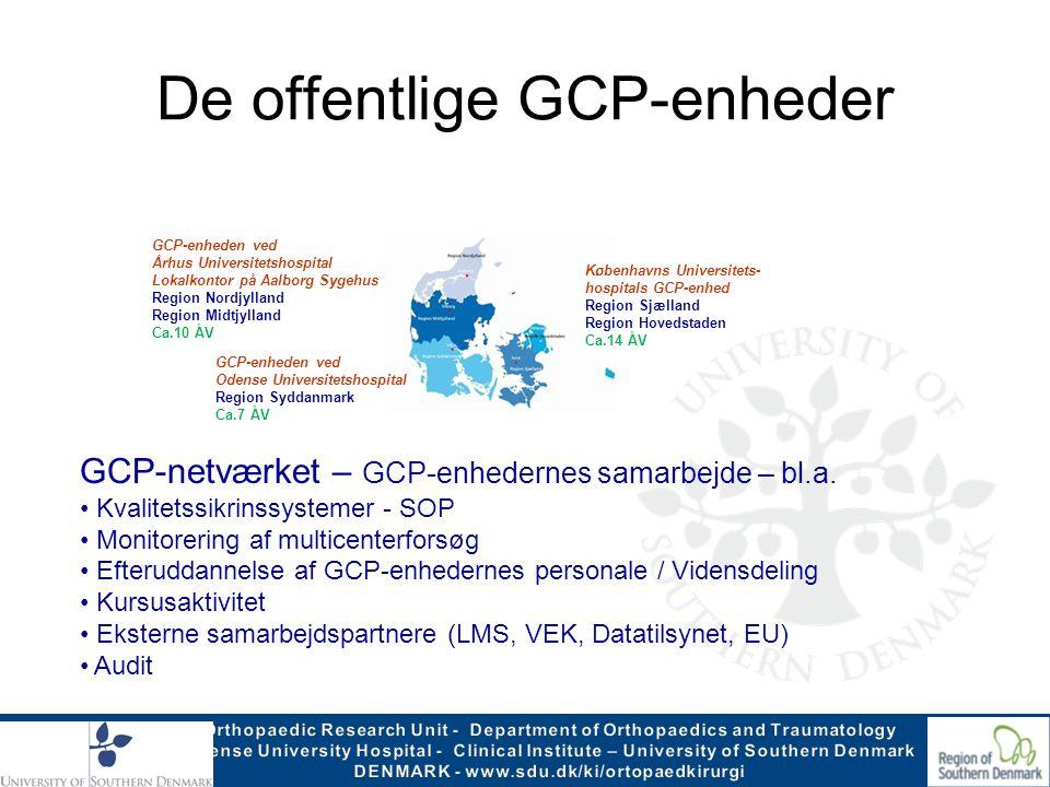 De offentlige GCP-enheder