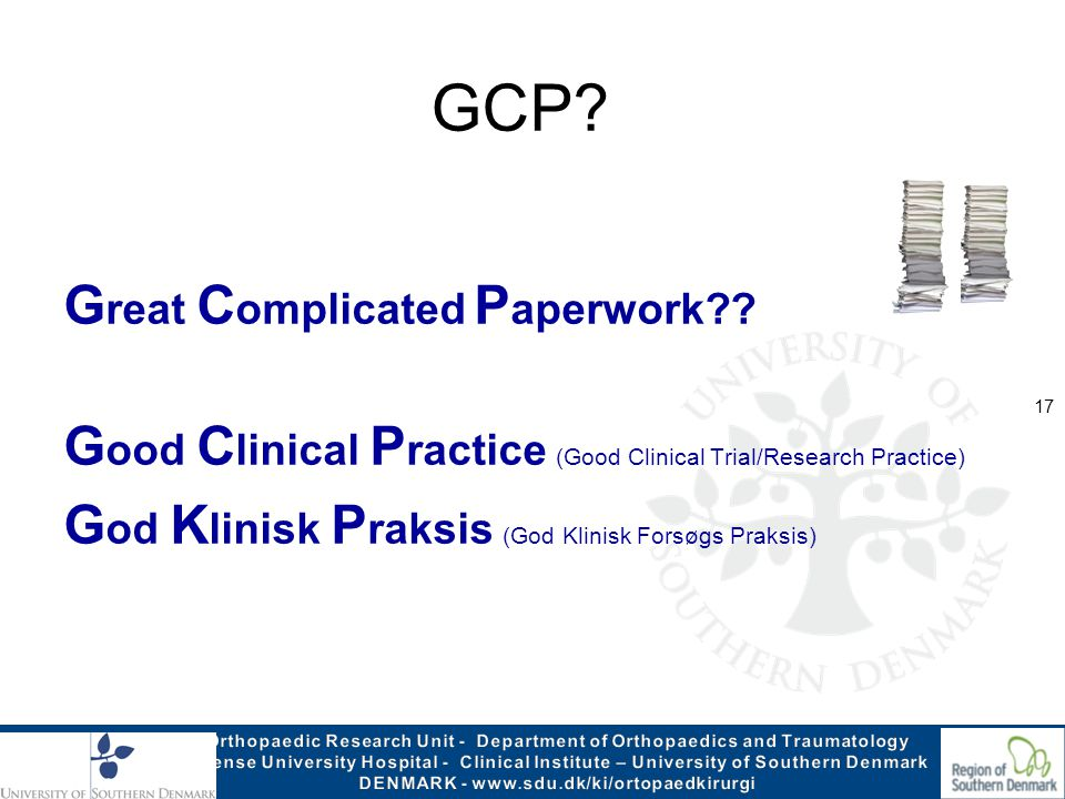 GCP Great Complicated Paperwork