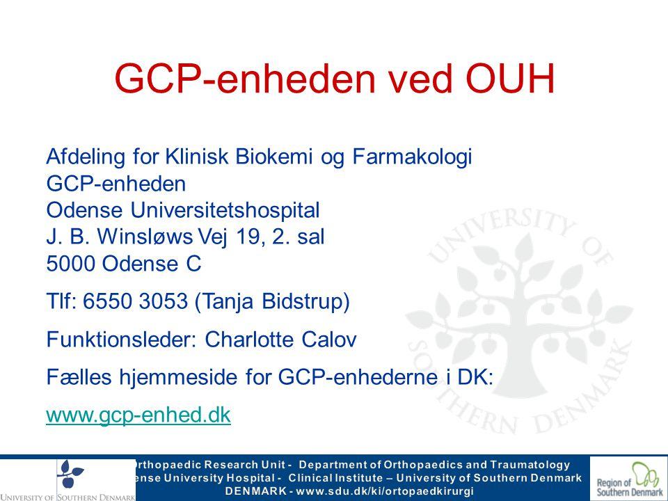 GCP-enheden ved OUH