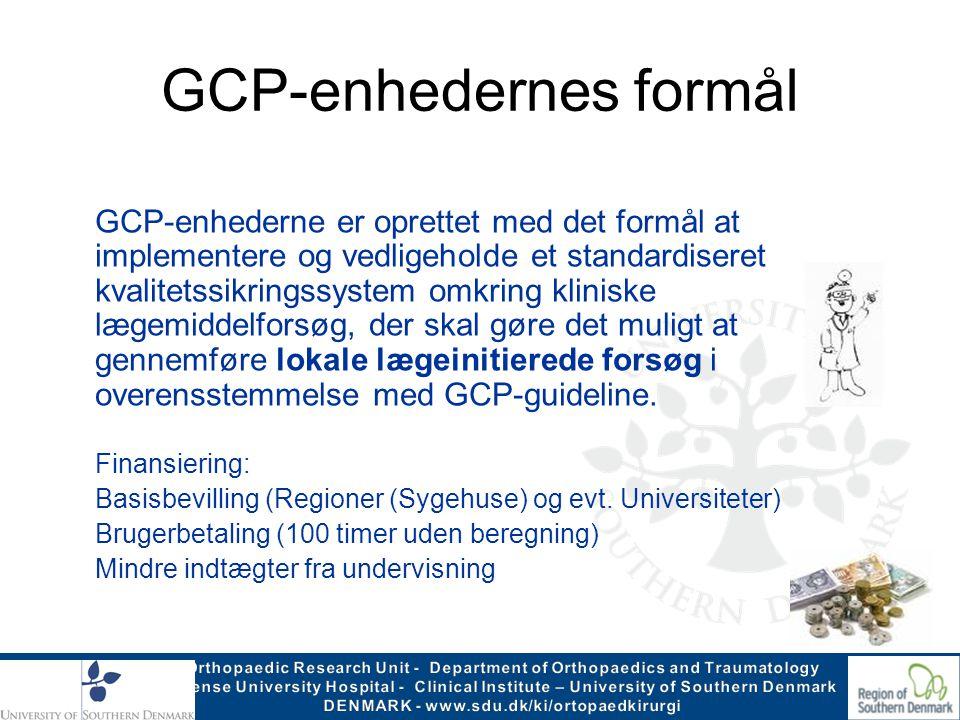 GCP-enhedernes formål