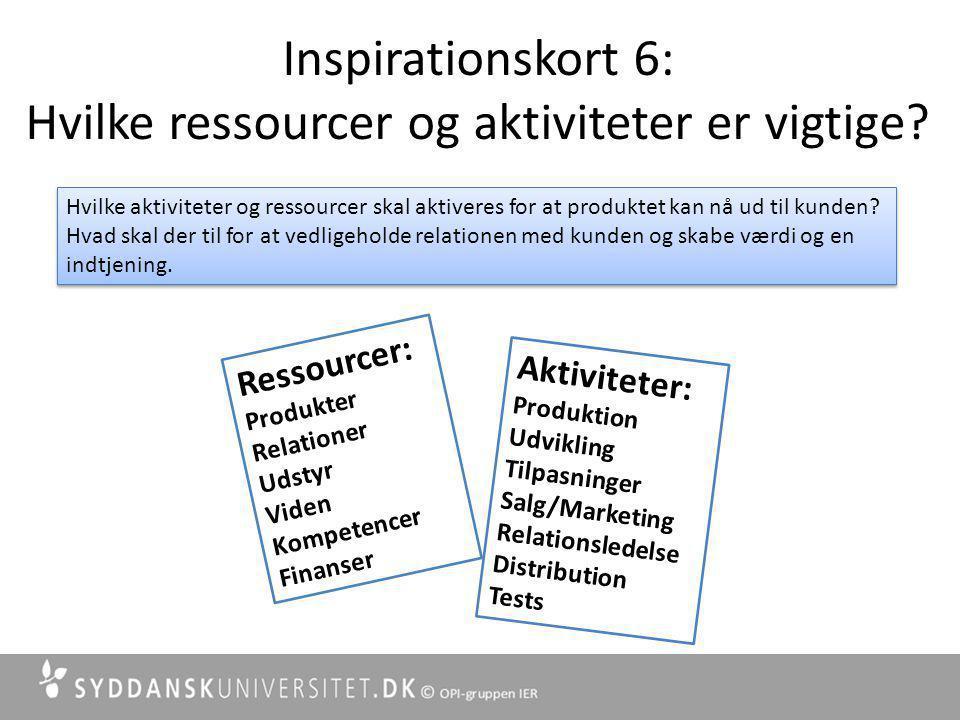 Inspirationskort 6: Hvilke ressourcer og aktiviteter er vigtige