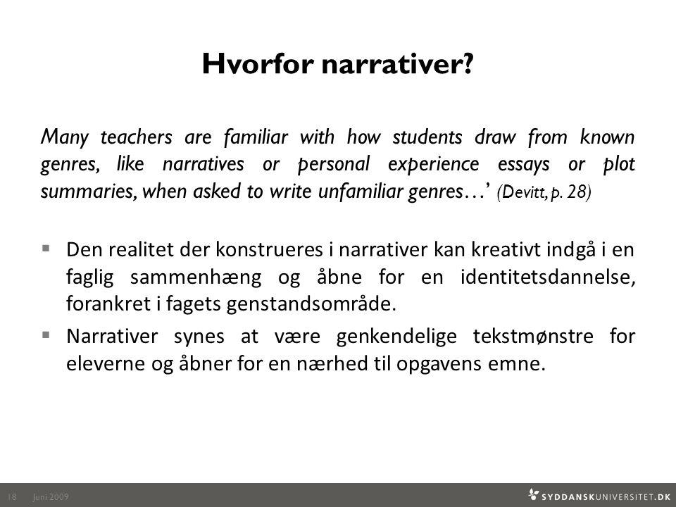 Hvorfor narrativer