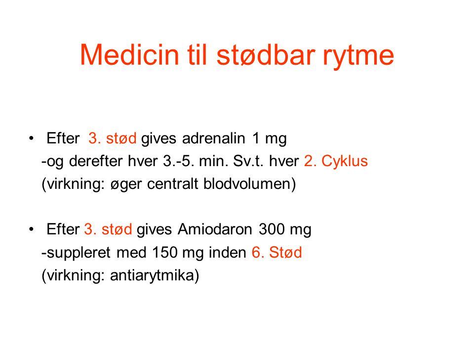 Medicin til stødbar rytme