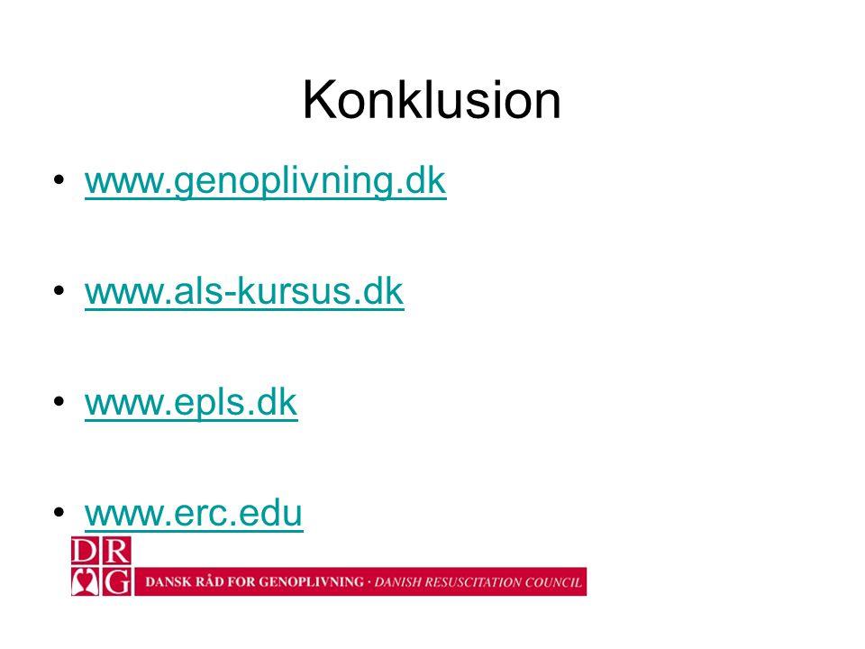Konklusion www.genoplivning.dk www.als-kursus.dk www.epls.dk