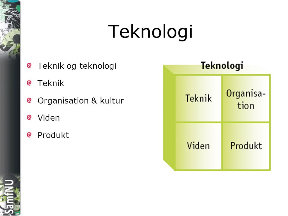 Teknologi Teknik og teknologi Teknik Organisation & kultur Viden