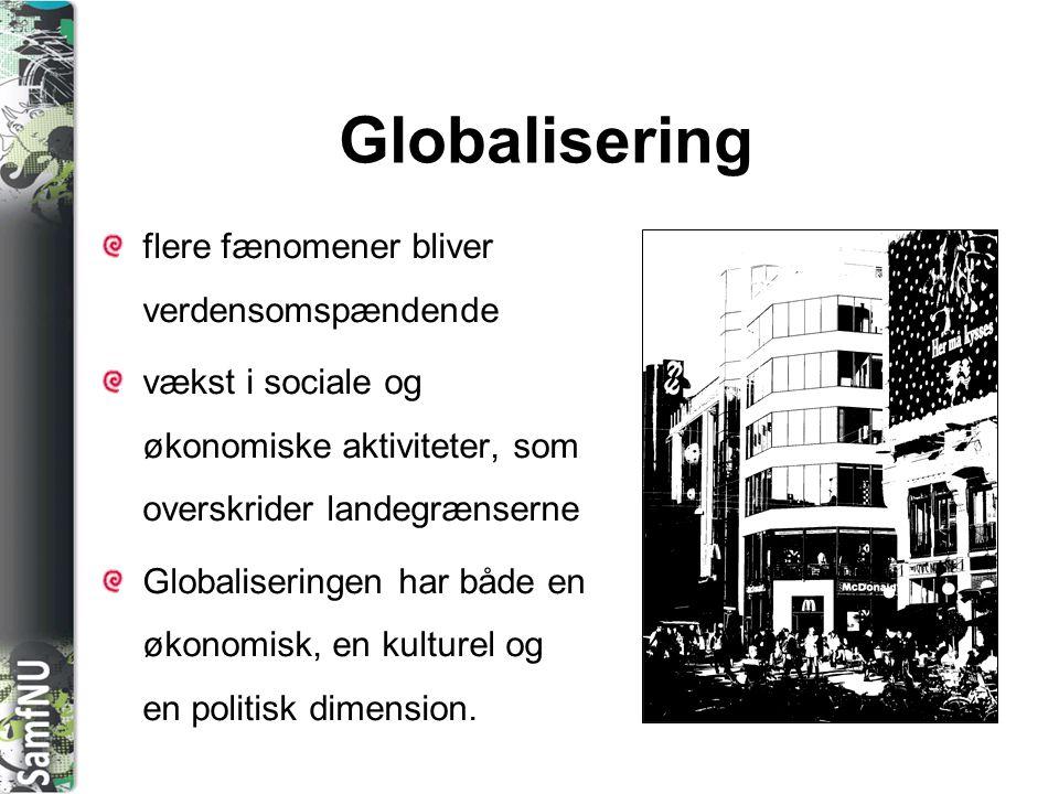 Globalisering flere fænomener bliver verdensomspændende