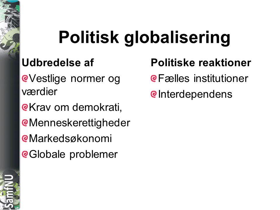 Politisk globalisering