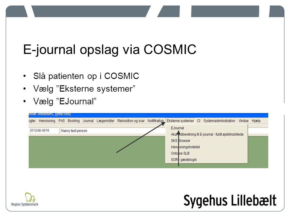 E-journal opslag via COSMIC