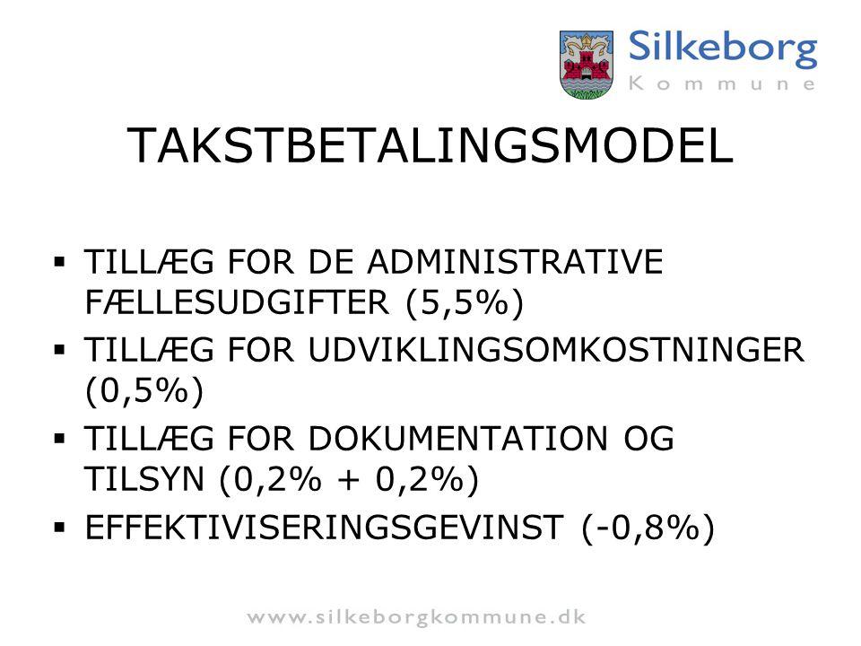 TAKSTBETALINGSMODEL TILLÆG FOR DE ADMINISTRATIVE FÆLLESUDGIFTER (5,5%)