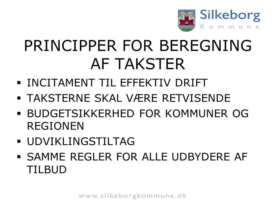 PRINCIPPER FOR BEREGNING AF TAKSTER