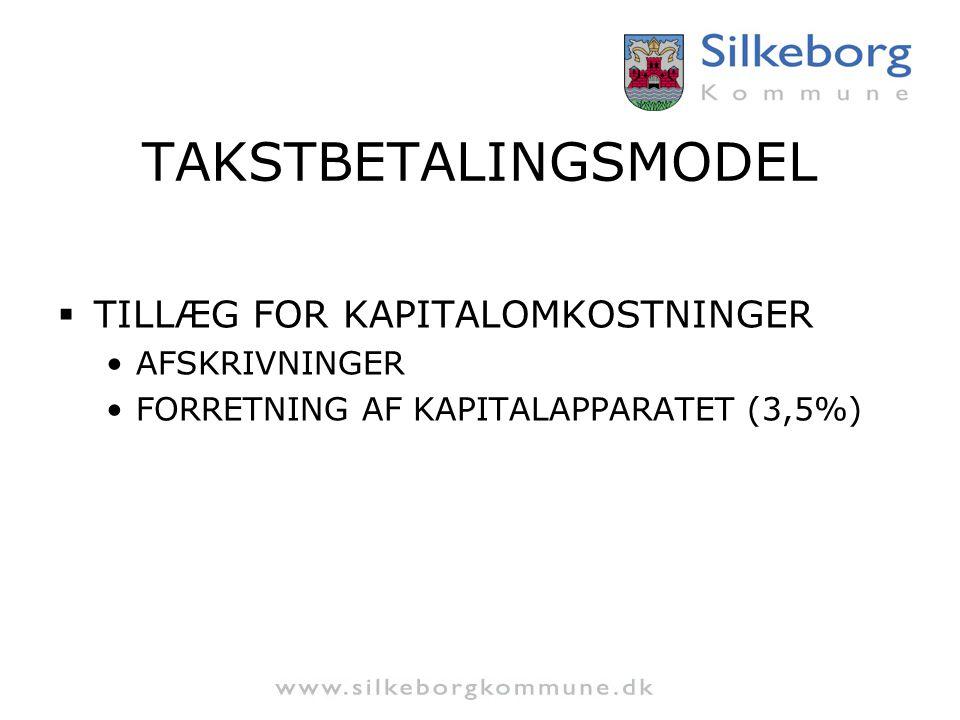 TAKSTBETALINGSMODEL TILLÆG FOR KAPITALOMKOSTNINGER AFSKRIVNINGER