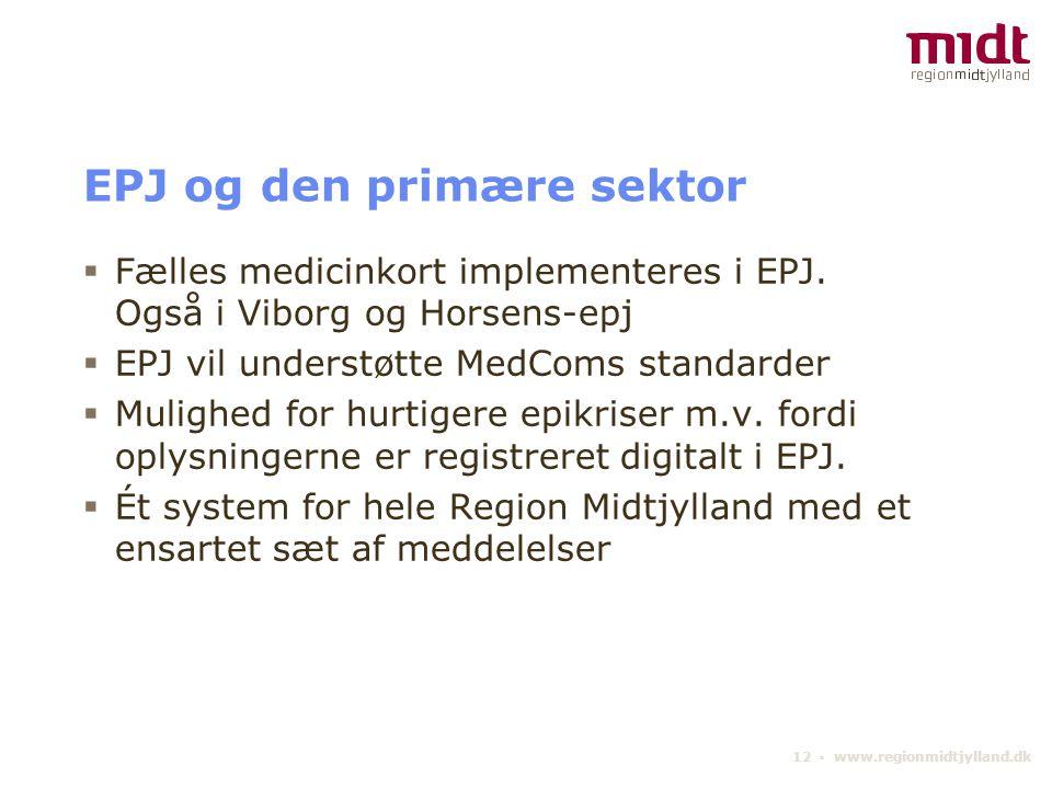 EPJ og den primære sektor
